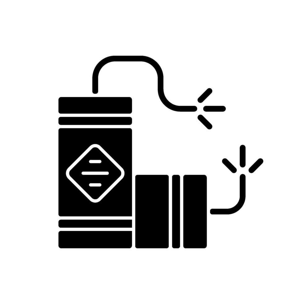 Fireworks black glyph icon vector
