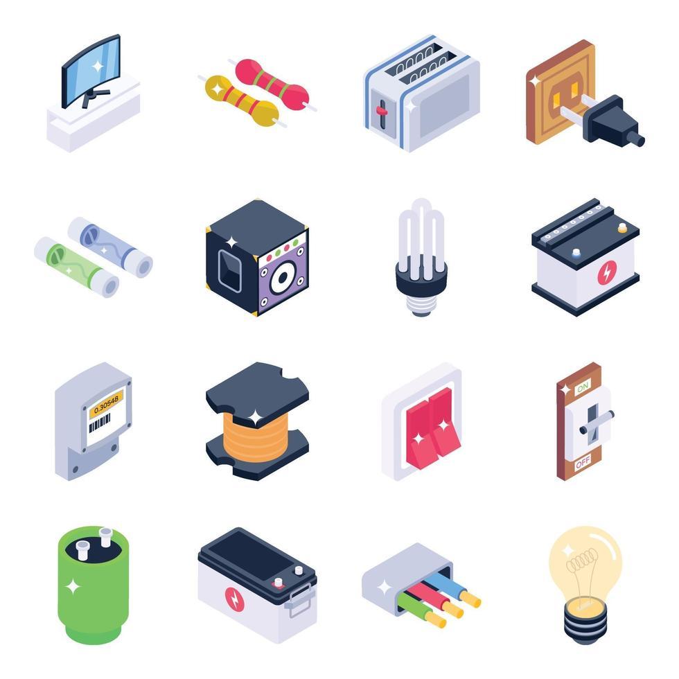 elementos y herramientas electronicas vector
