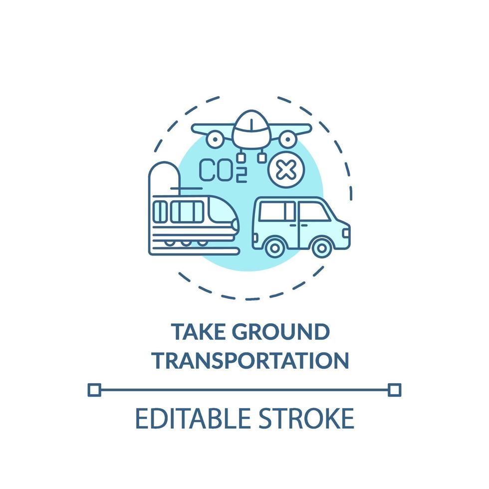 tomar el icono del concepto de transporte terrestre vector