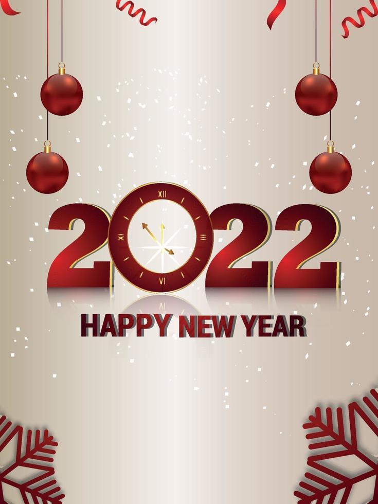 Flyer de fiesta de celebración de feliz año nuevo con fondo creativo vector