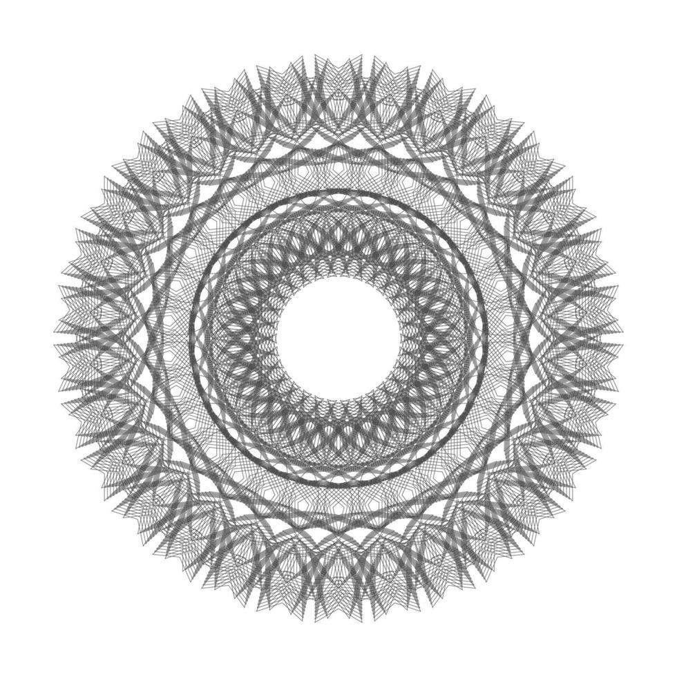 círculo negro ornamento geométrico floral vector gráfico