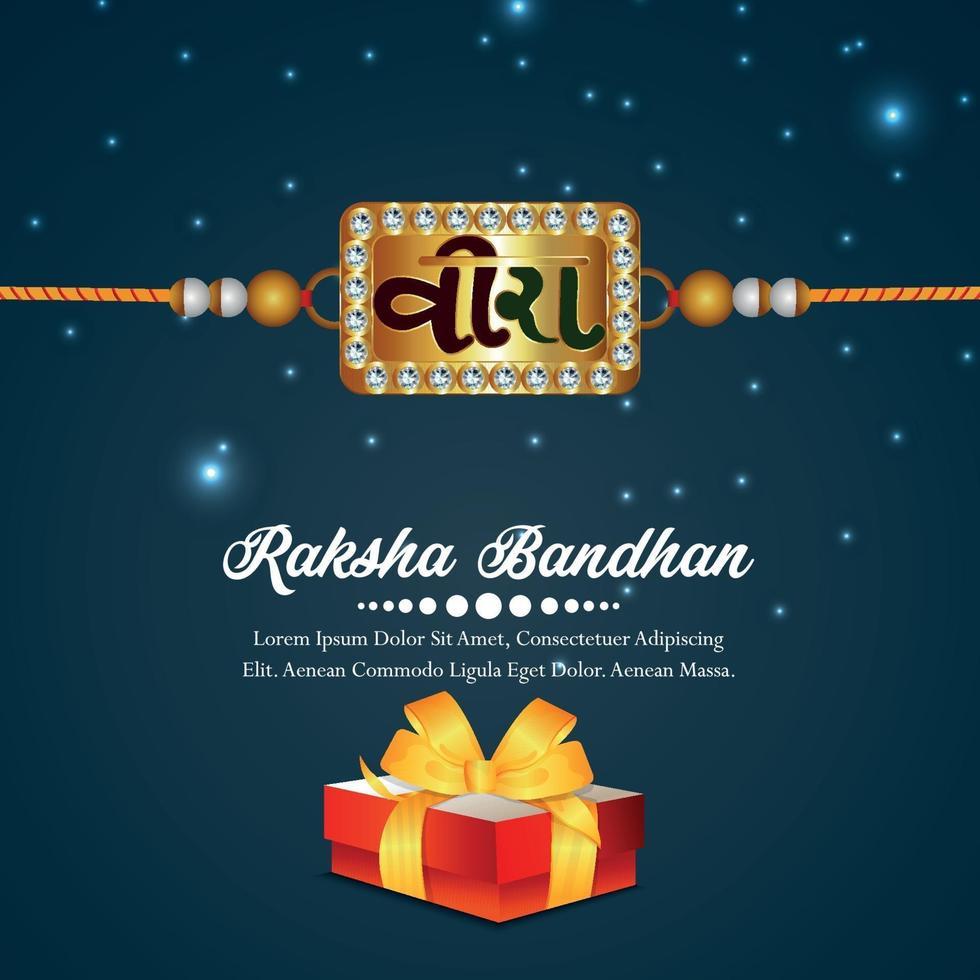 ilustración vectorial realista para la tarjeta de felicitación de celebración feliz raksha bandhan vector