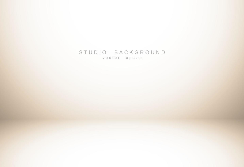 Gradiente de color marrón pastel vacío de lujo abstracto con viñeta de borde marrón, pantalla de telón de fondo de estudio del producto, telón de fondo de negocios. ilustración vectorial. vector