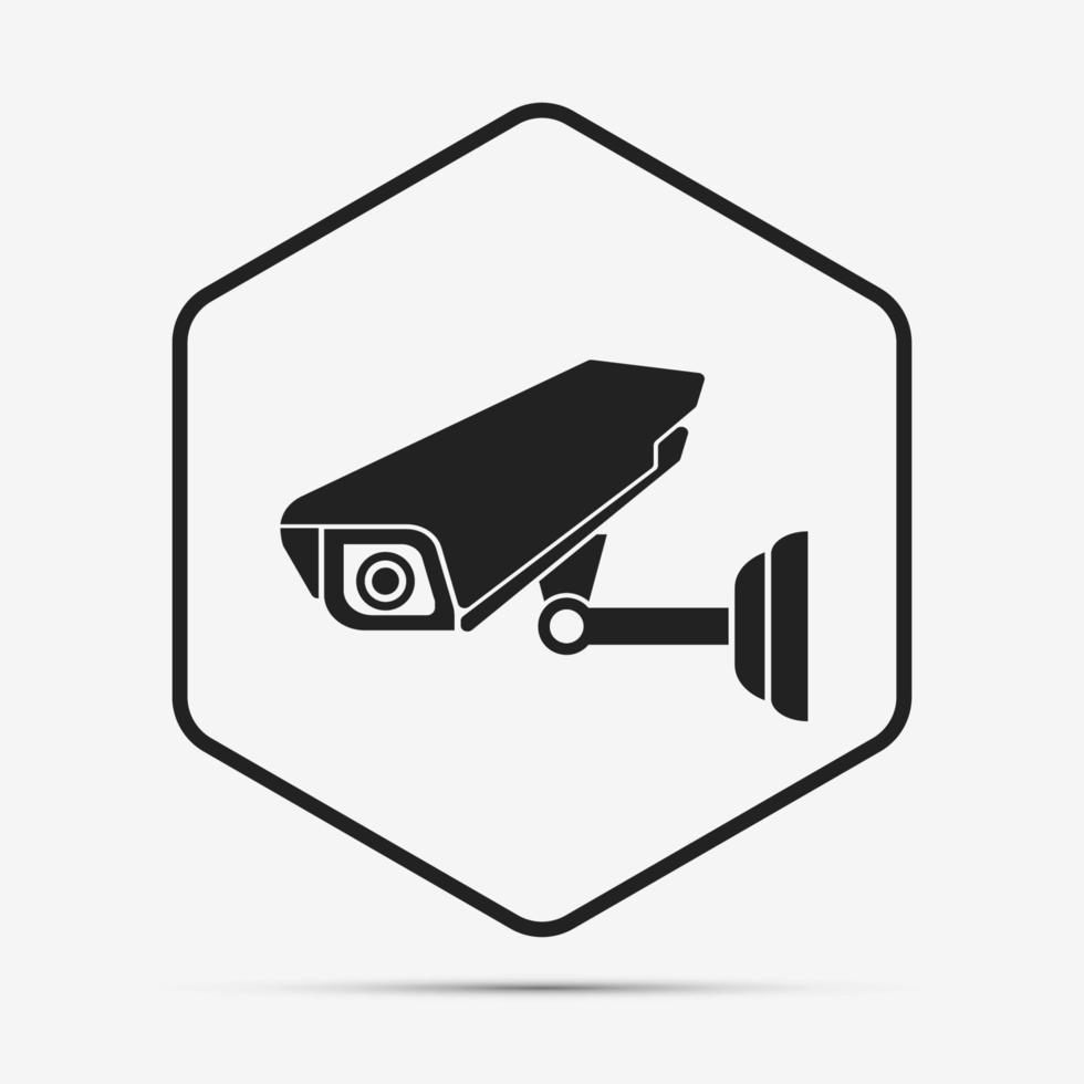 icono de cámara de seguridad vector