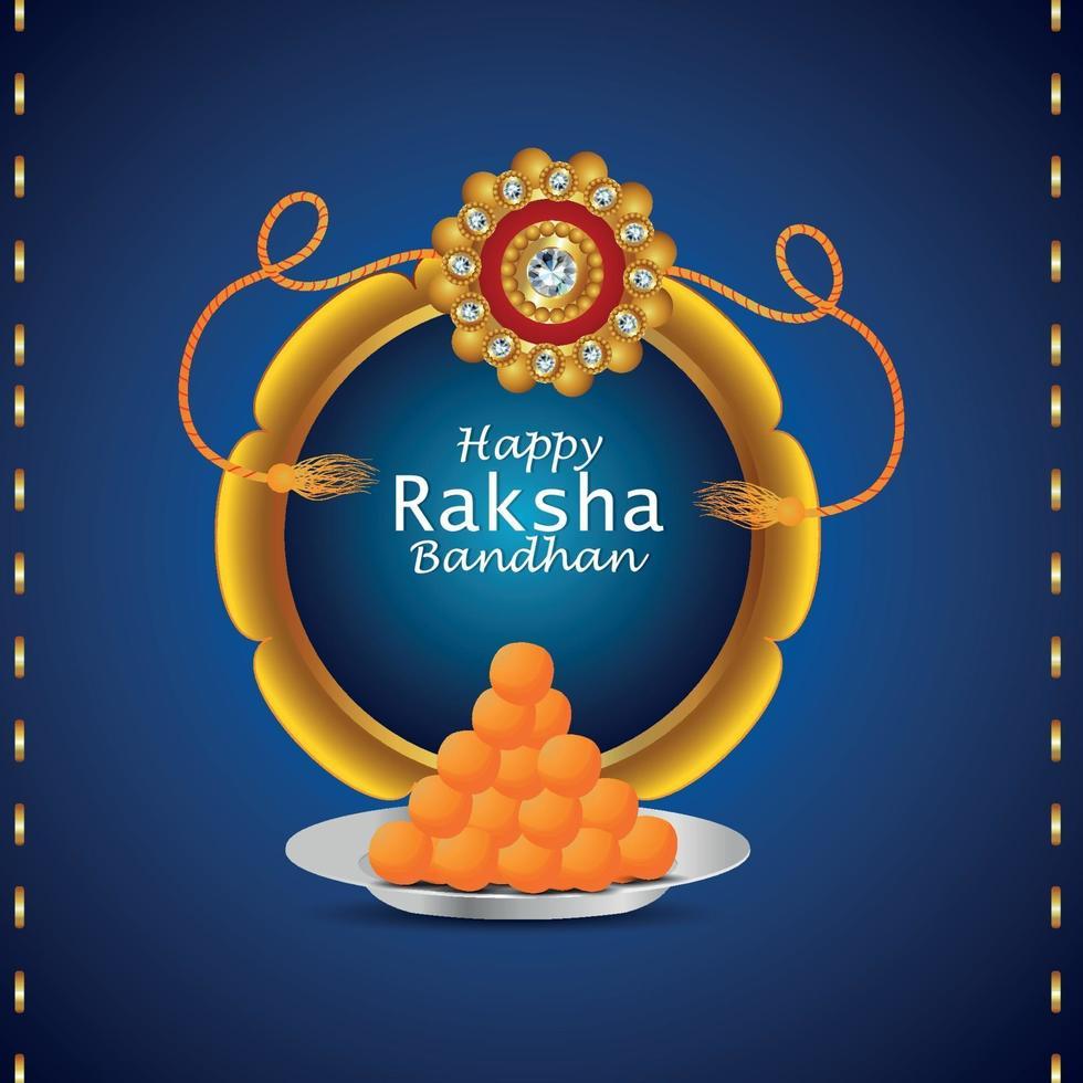 feliz festival raksha bandhan de hermano y hermana tarjeta de felicitación de invitación vector
