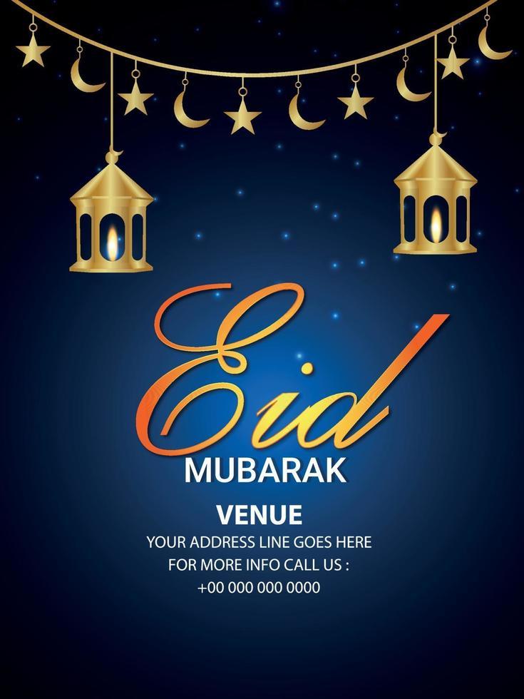 folleto de celebración de eid mubarak vector