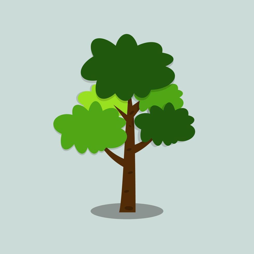 Ilustración del icono de árbol vector