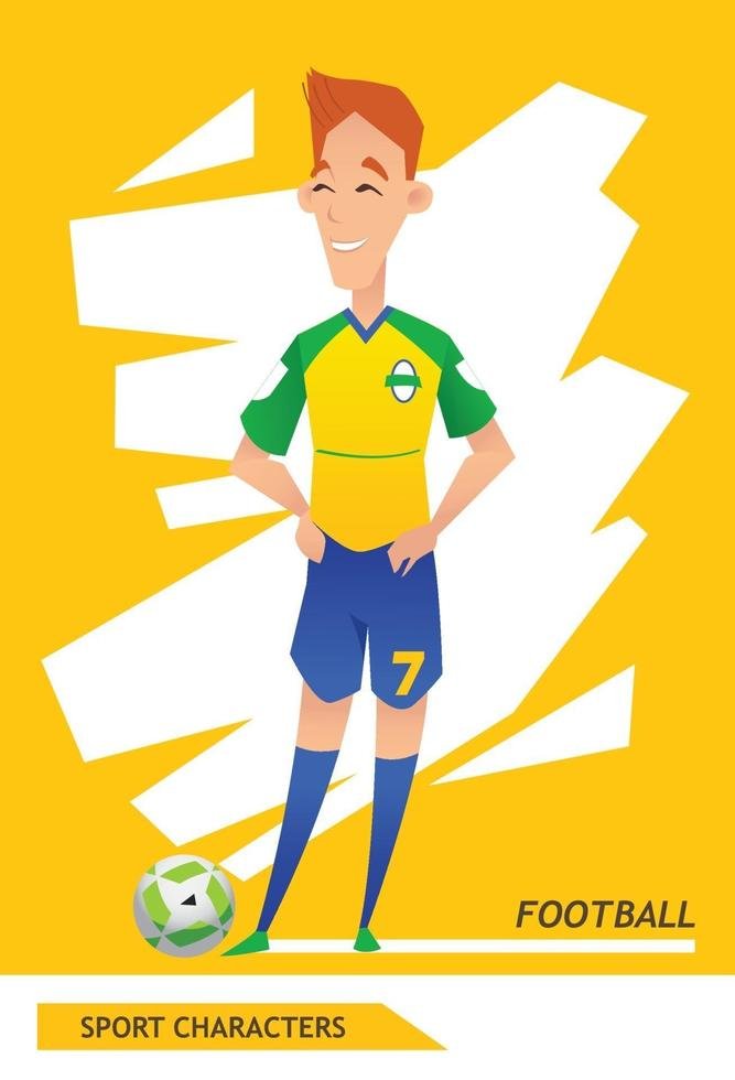 Sport characters  football player vector design