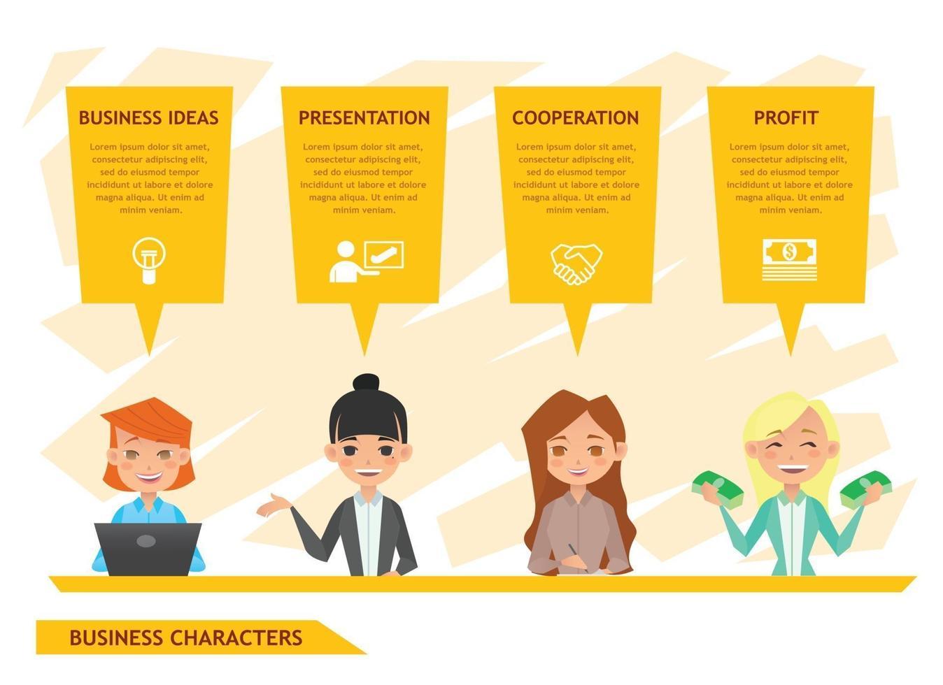 diseño de personajes de personas de negocios vector