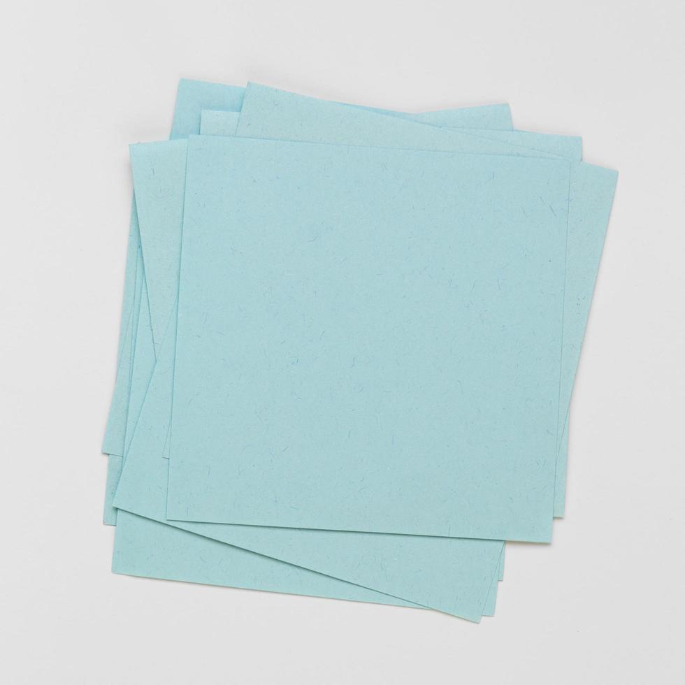 notas adhesivas de la vista superior foto
