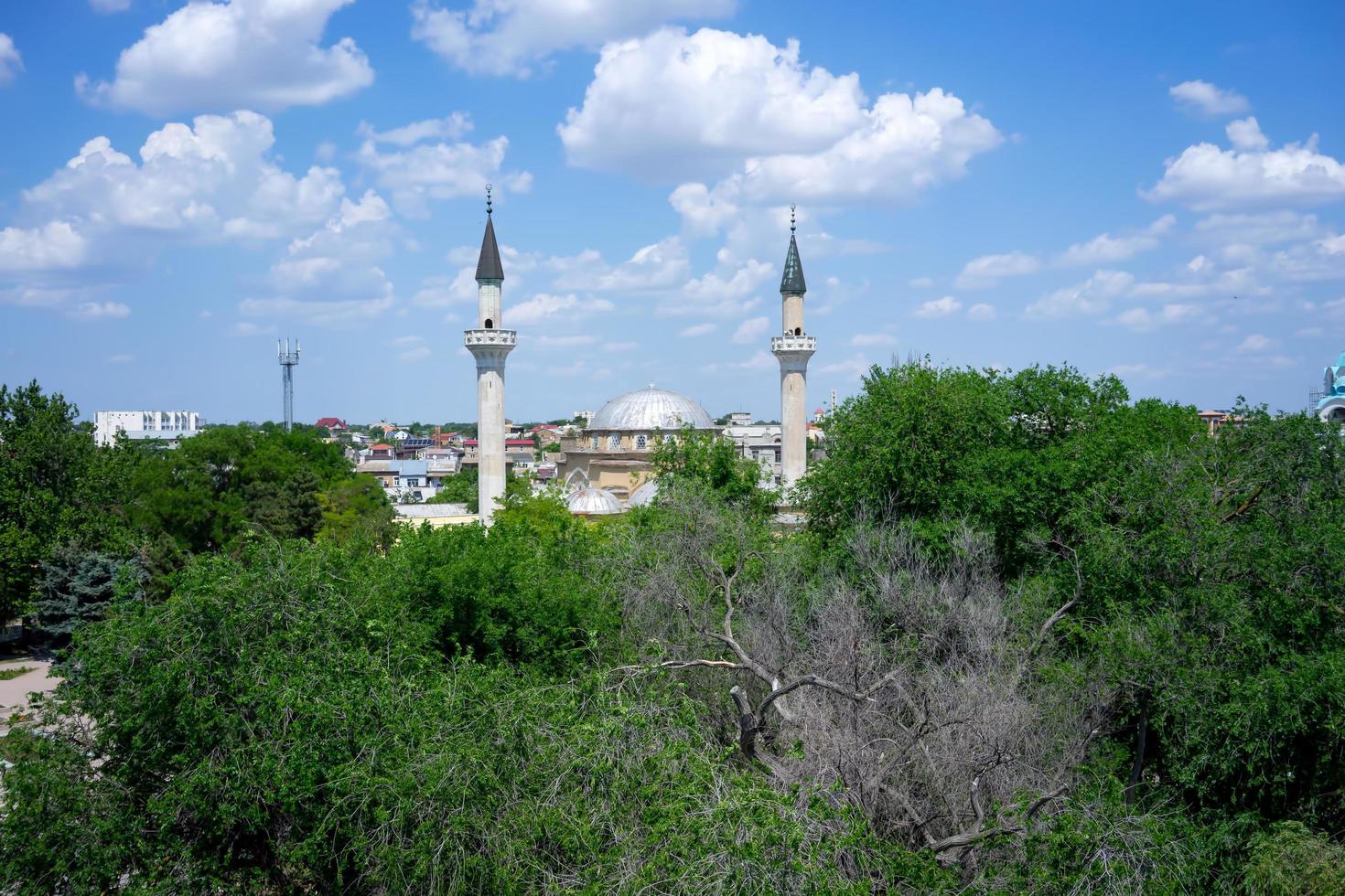 vista superior de los lugares de interés de la ciudad antigua. foto