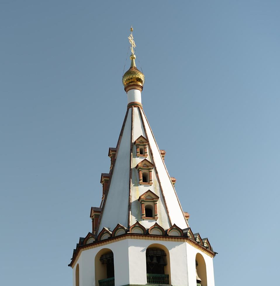 vista de la catedral de la epifanía. irkutsk, rusia foto
