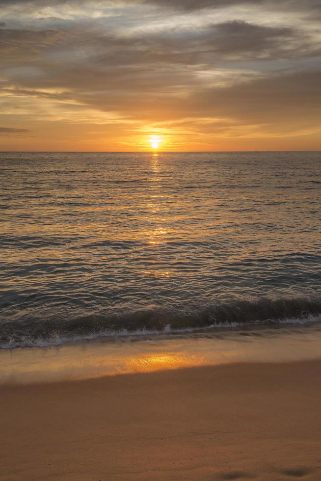 Sunset in the Pacific Ocean at Punta Lobos Beach in Todos Santos Baja California Sur Mexico photo