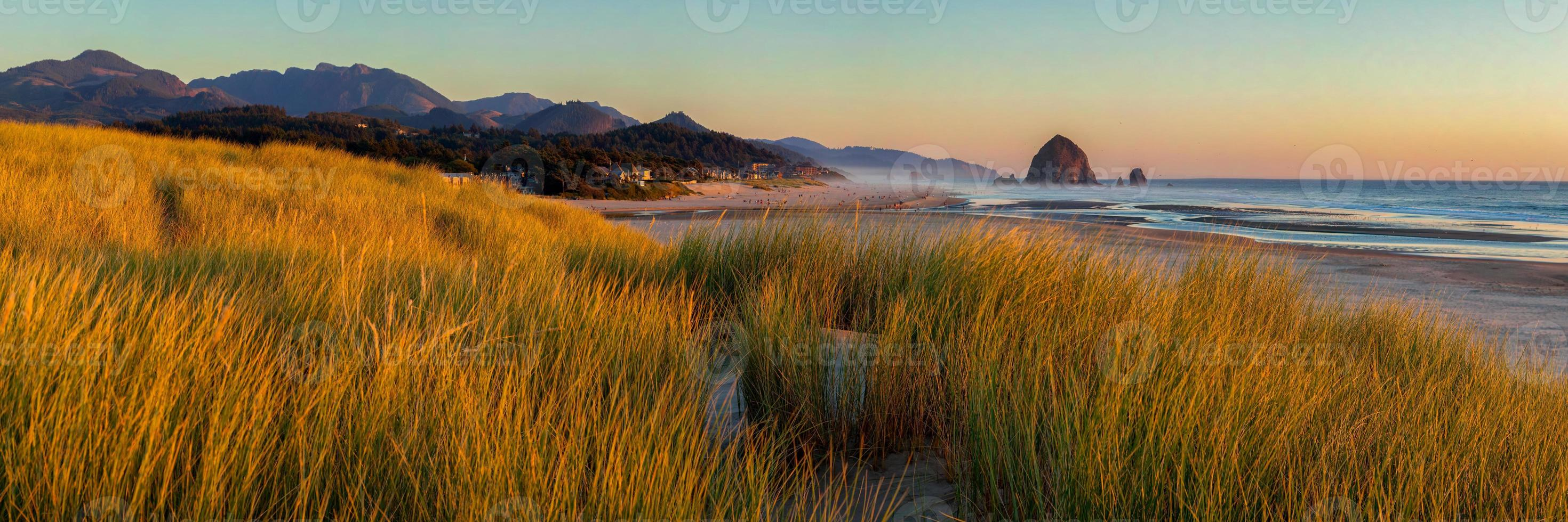 Looking south to Cannon Beach and Haystack Rock in Cannon Beach photo