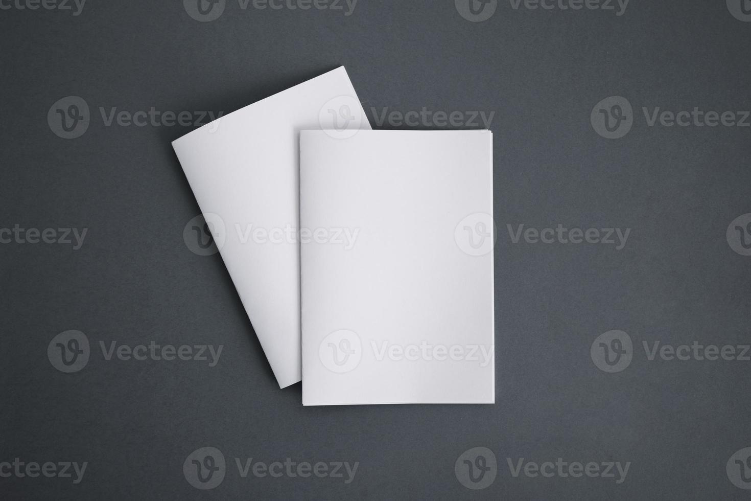 dos folletos blancos foto