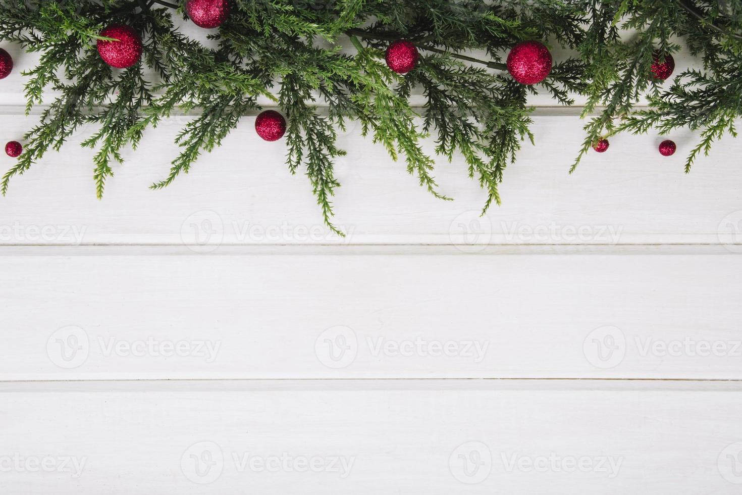 Mistletoe decoration border photo