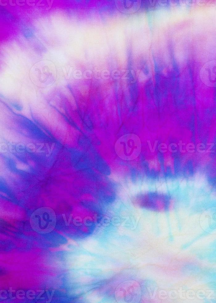 textura de la tela del teñido anudado degradado multicolor foto