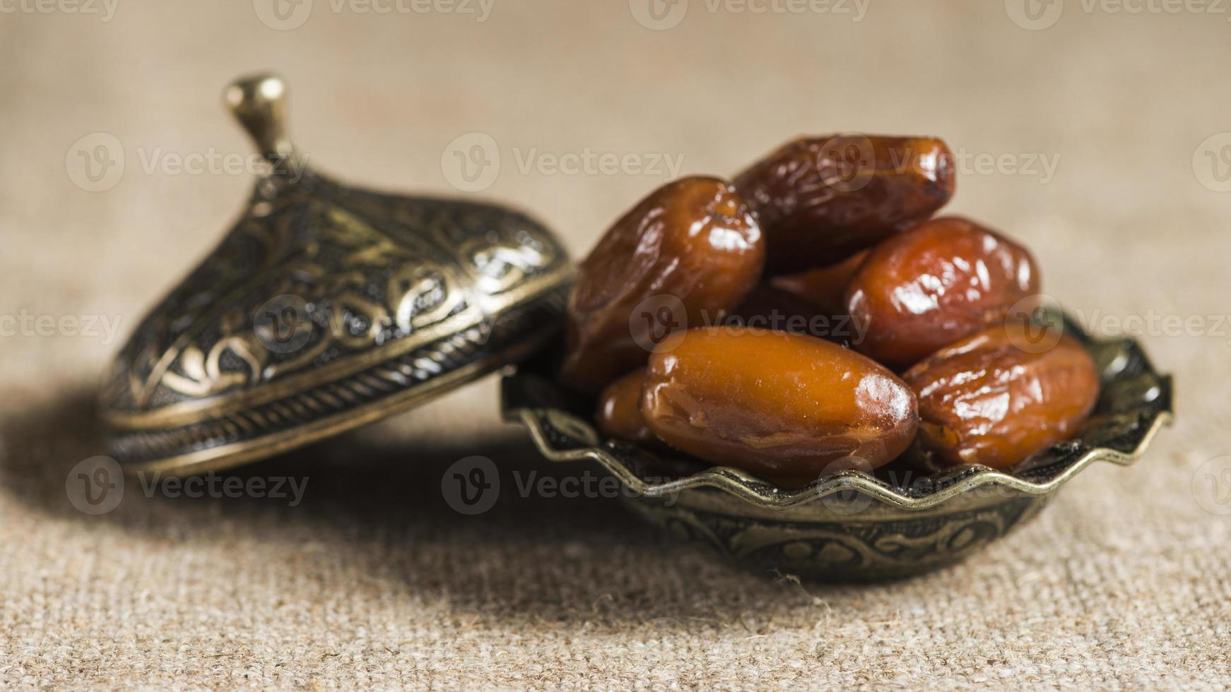 Ramadan concept with some dates photo