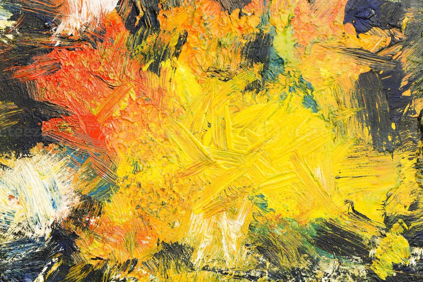 Top view artistic copy space abstract painting photo