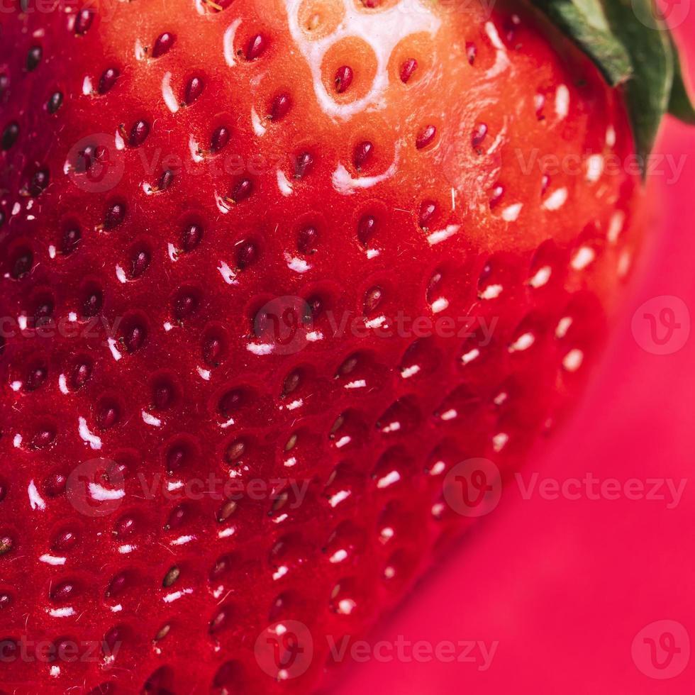 Macro strawberry texture photo