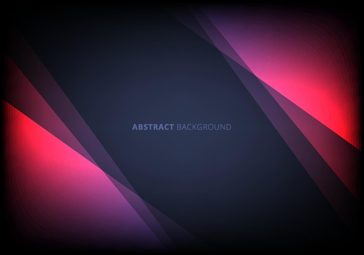 Abstract template pink triangle overlapping layered with lighting effect on dark blue background vector