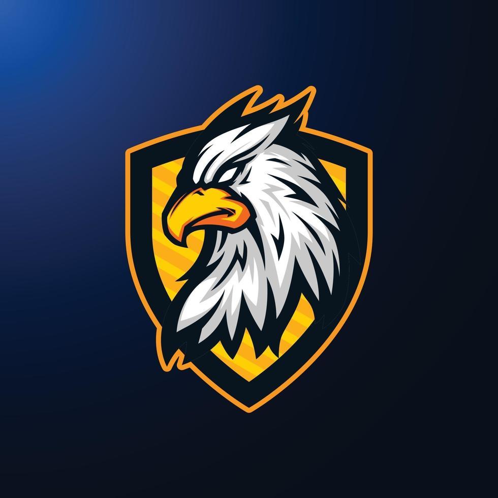 Illustration of Griffin Eagle Myth Head Mascot vector