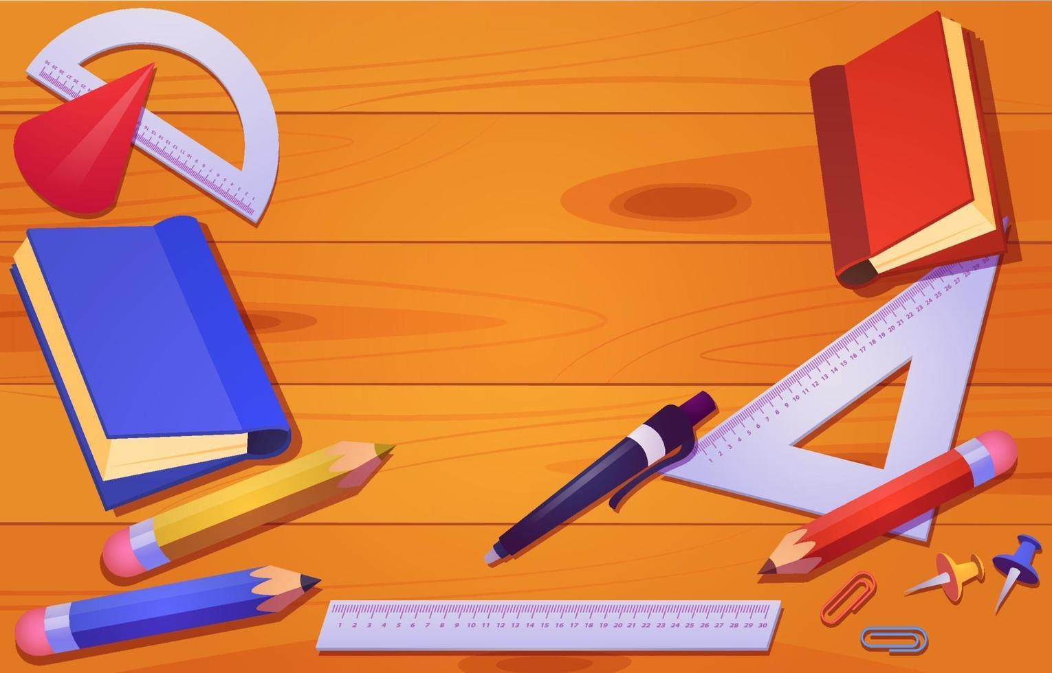Student Stationary On The Table vector