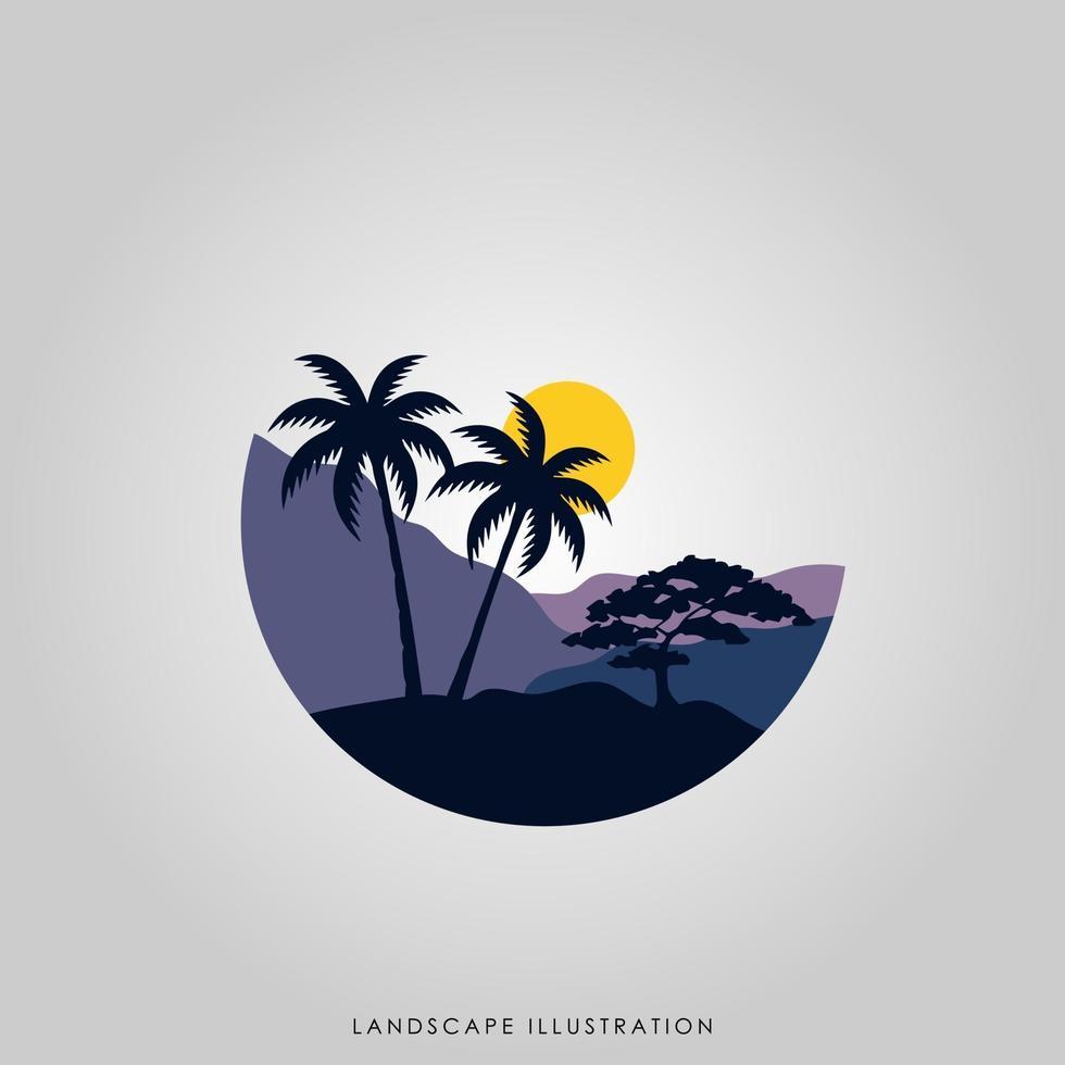 diseño de ilustración de paisaje vector