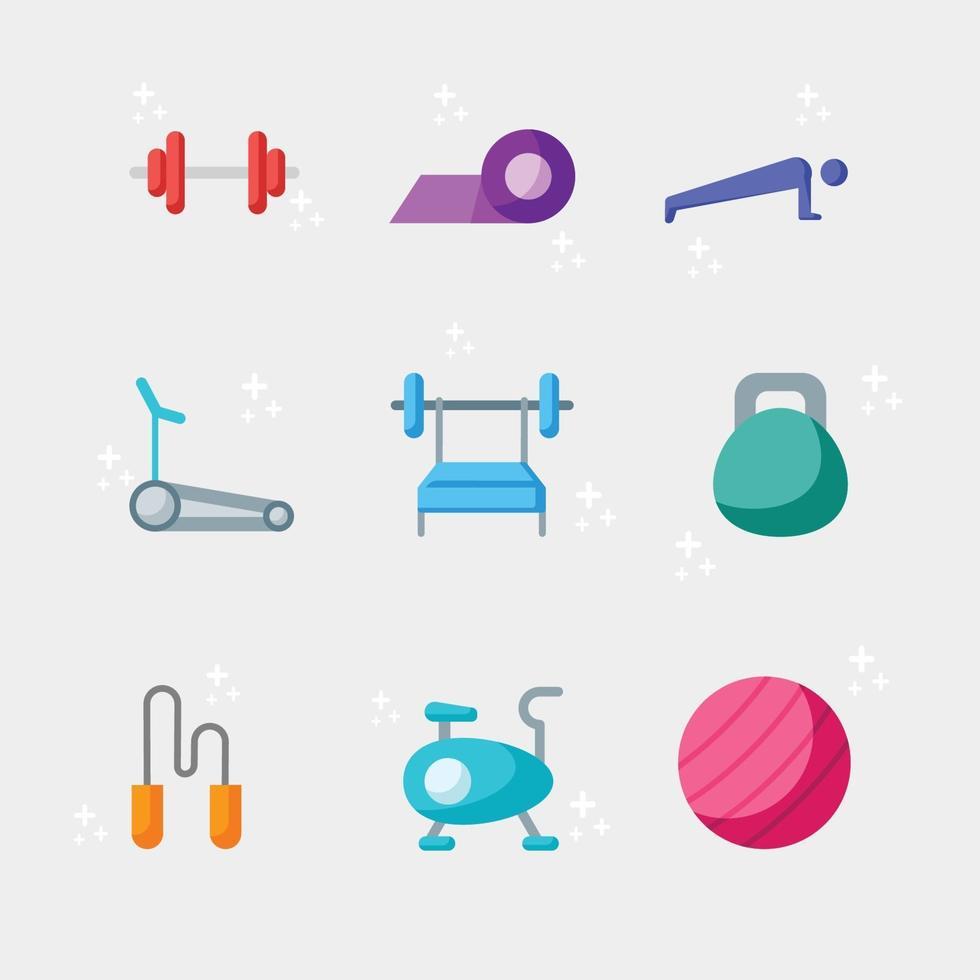 Gym Icon Collection vector