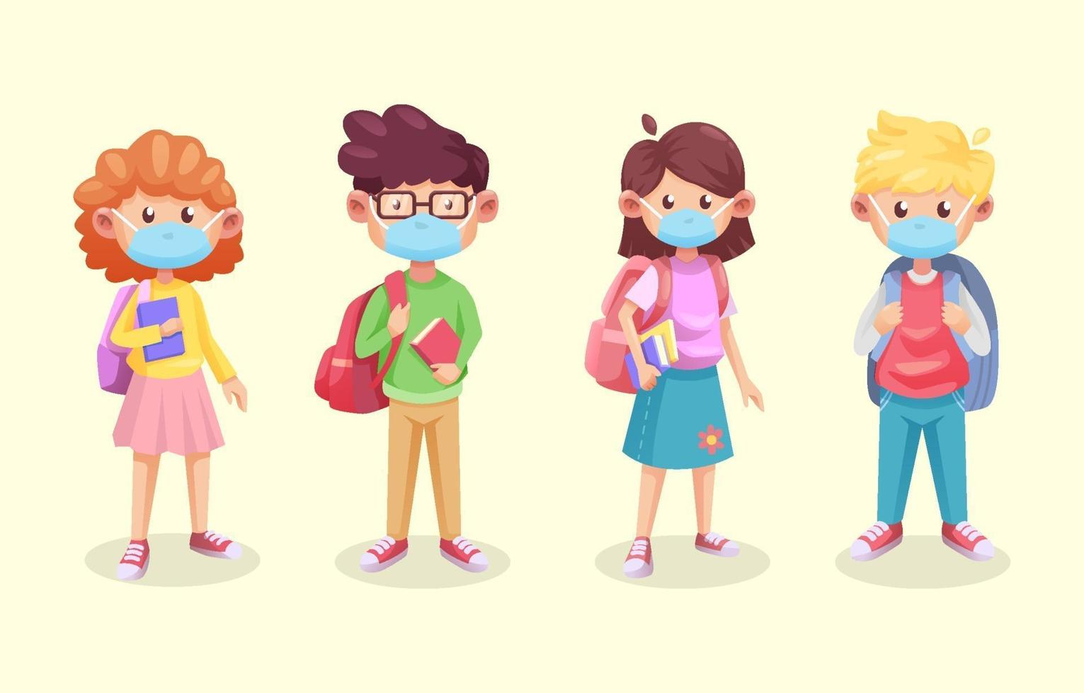 Students in New Normal Protocol Character vector