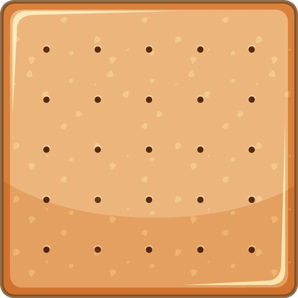 Square biscuit in cartoon style isolated vector