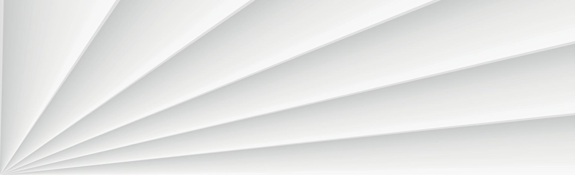Fondo panorámico de vector blanco con líneas rectas y sombras