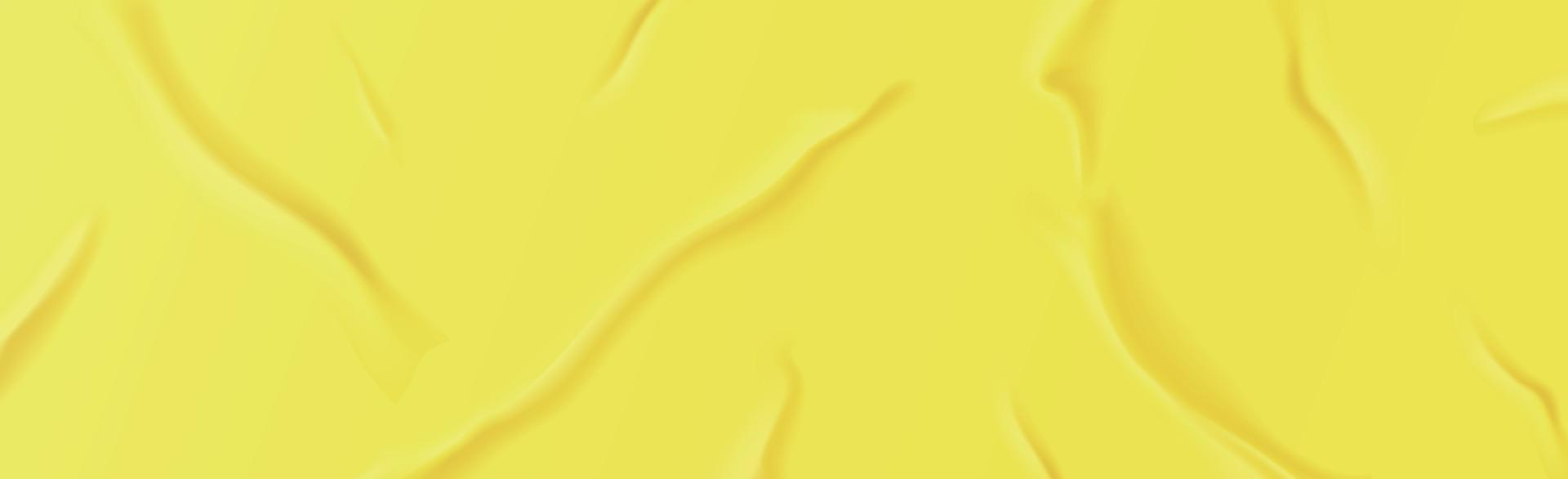 Textura de fondo amarillo arrugado realista, pliegues - vector