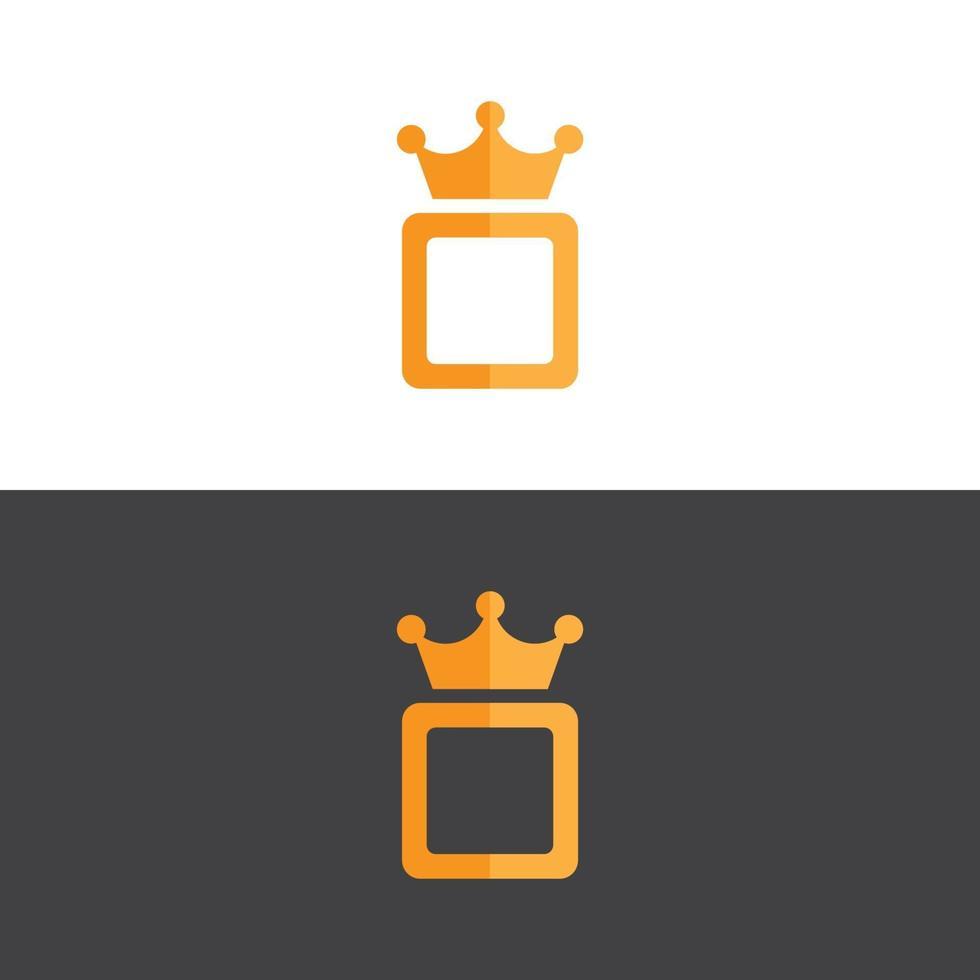 Elegante logotipo de corona en imagen vectorial de oro vector