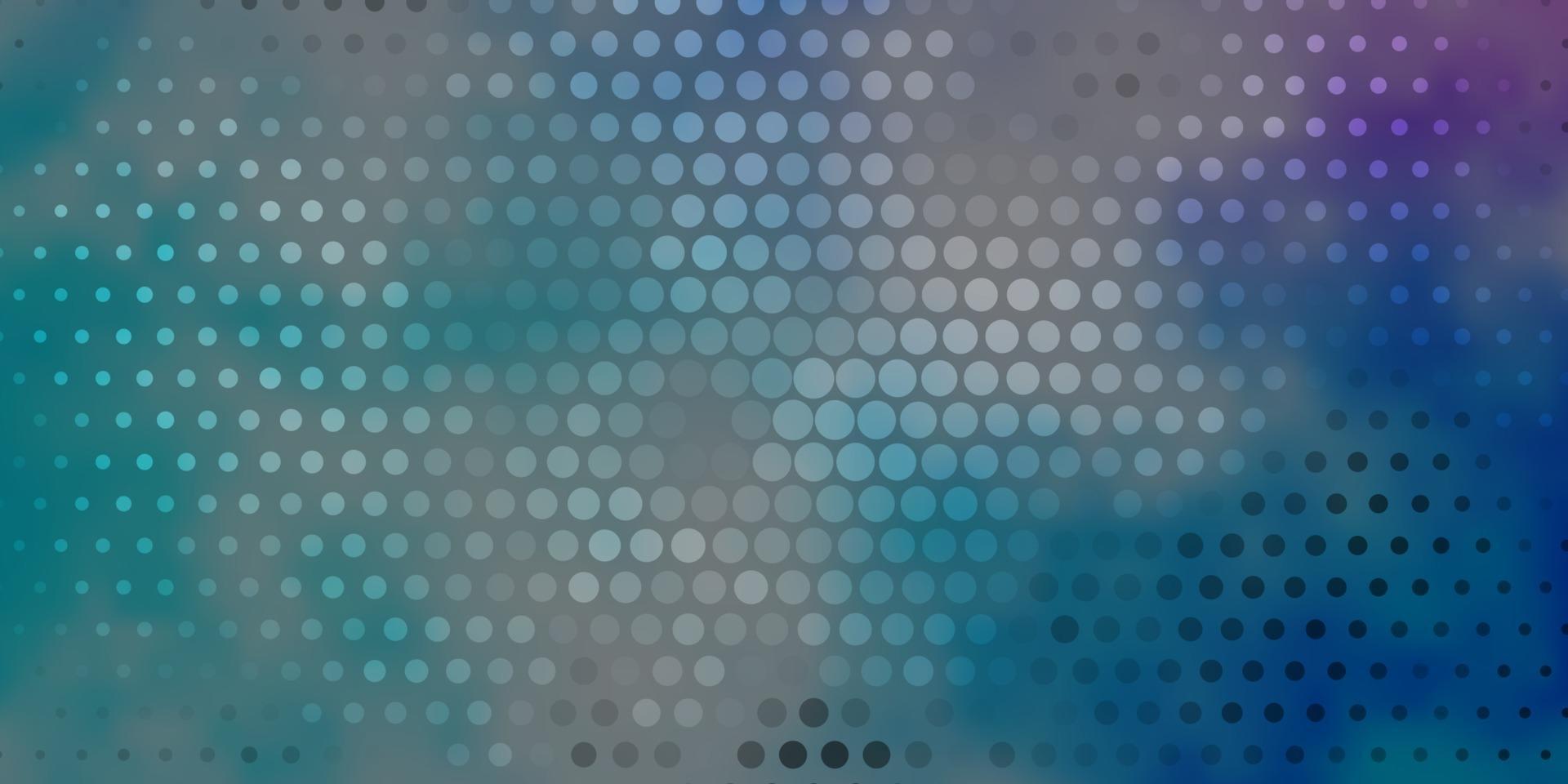 Fondo de vector de color rosa oscuro, azul con círculos.