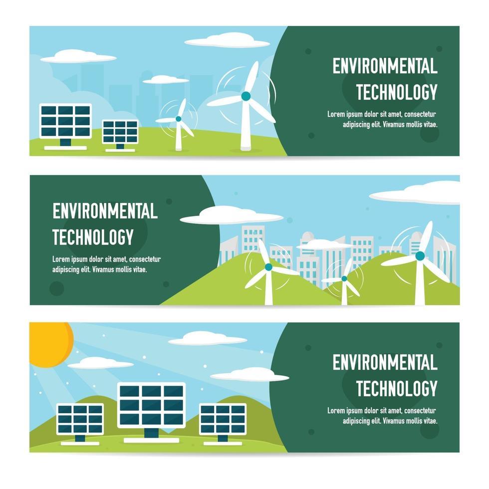 banner de tecnología ecológica verde vector