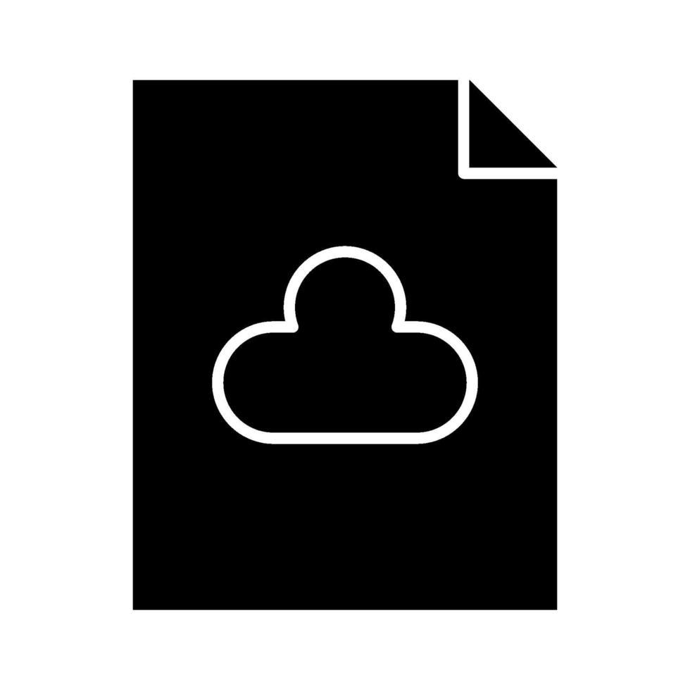 icono de documento en la nube vector