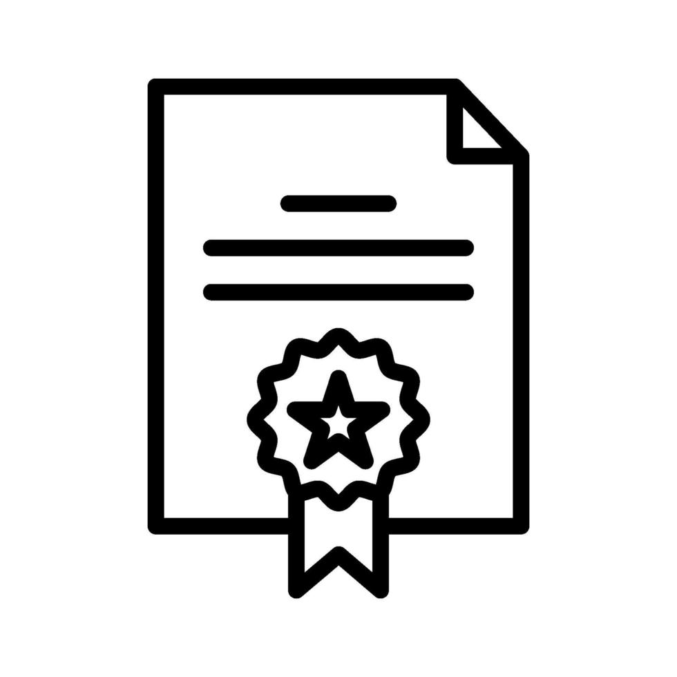 icono de vector de certificado