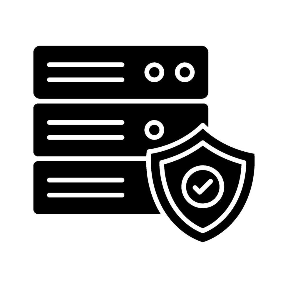 icono de protección de base de datos vector
