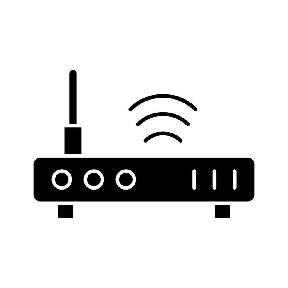 icono de vector de enrutador