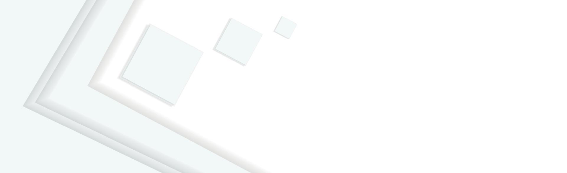 Fondo panorámico de vector blanco con líneas y cuadrados