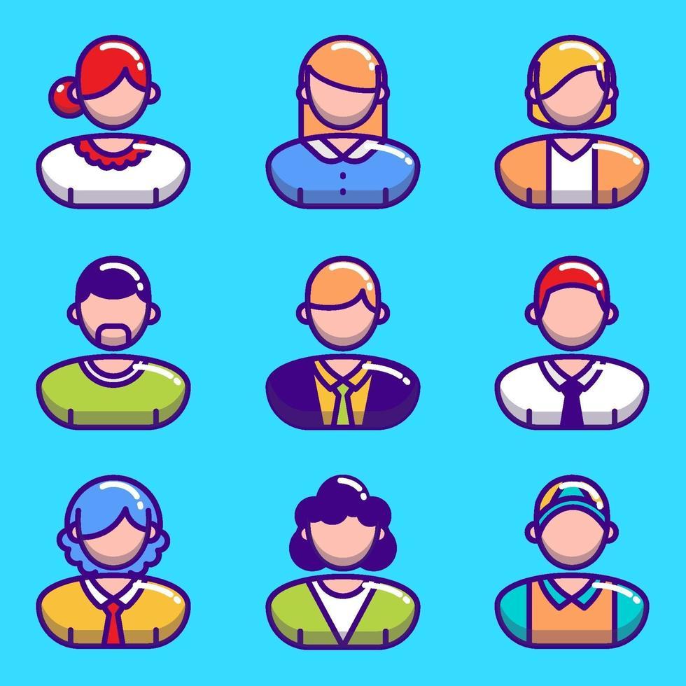colección de iconos de personas vector