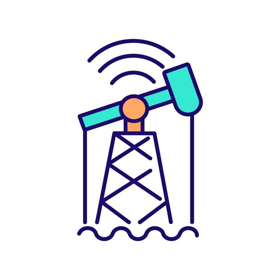 digitalización en la industria icono de color rgb vector