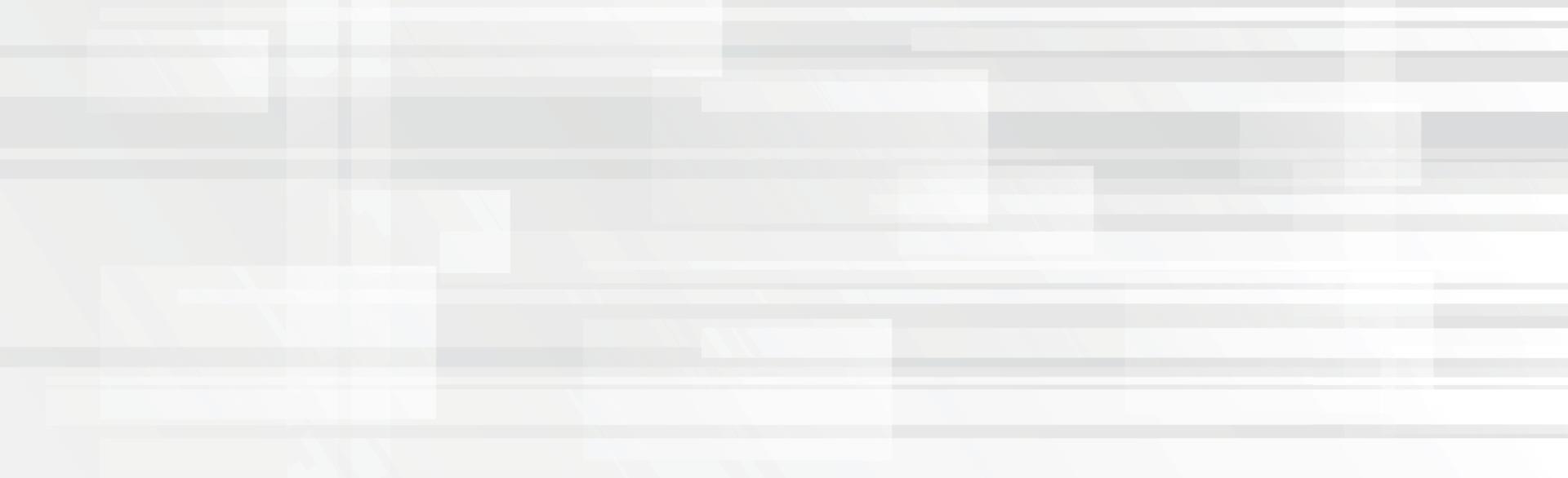 Fondo panorámico de vector blanco con líneas y cuadros