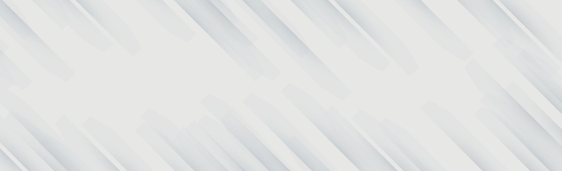 Fondo panorámico de vector blanco con líneas onduladas