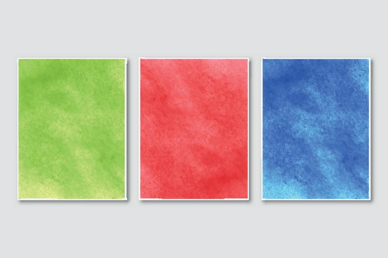 invitación de boda con fondo de acuarela abstracta pintada a mano minimalista creativa vector