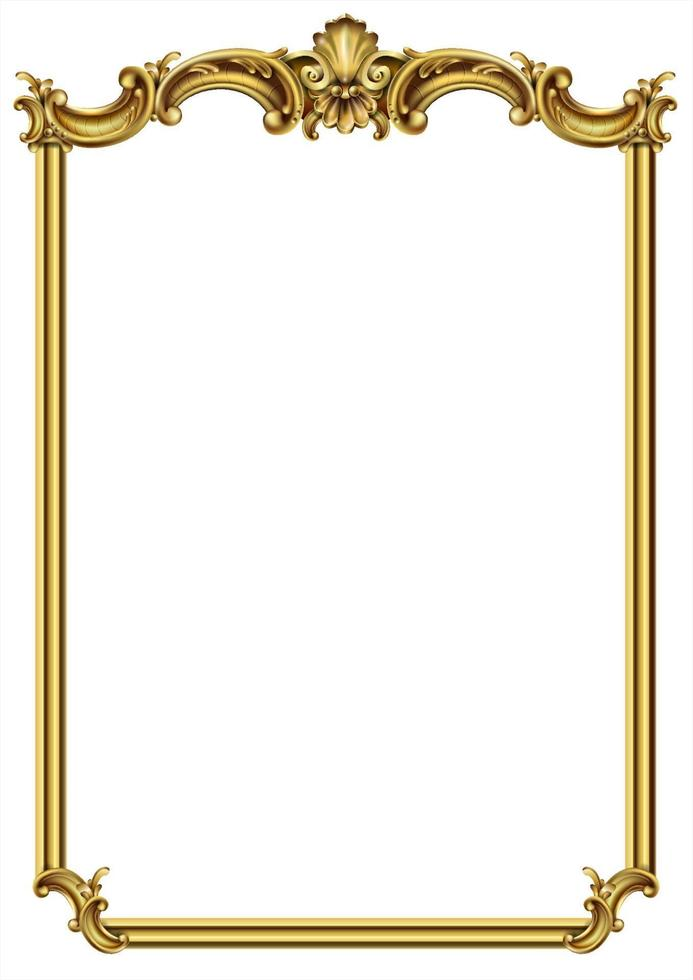 classic golden picture frame vector