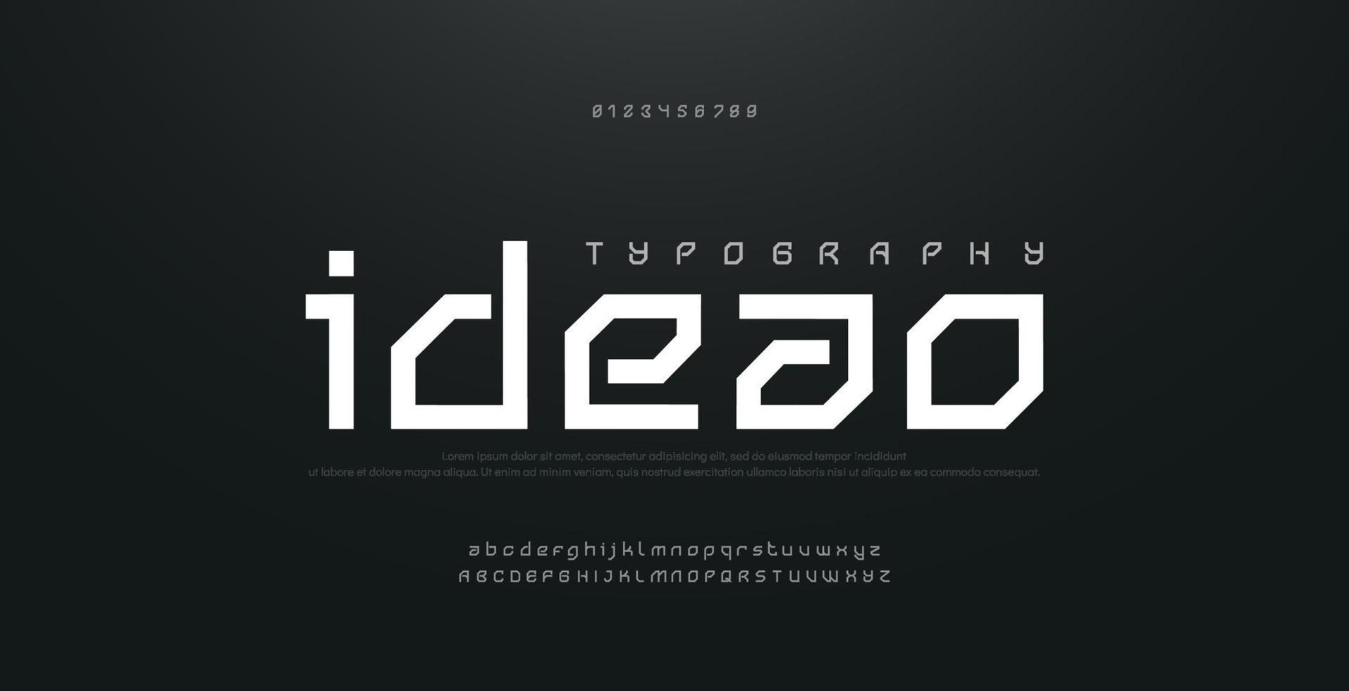 Abstract modern urban alphabet fonts. Typography sport technology fashion digital future creative logo square design font vector