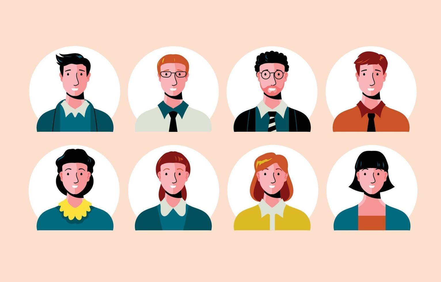 Set of Business People Avatar vector