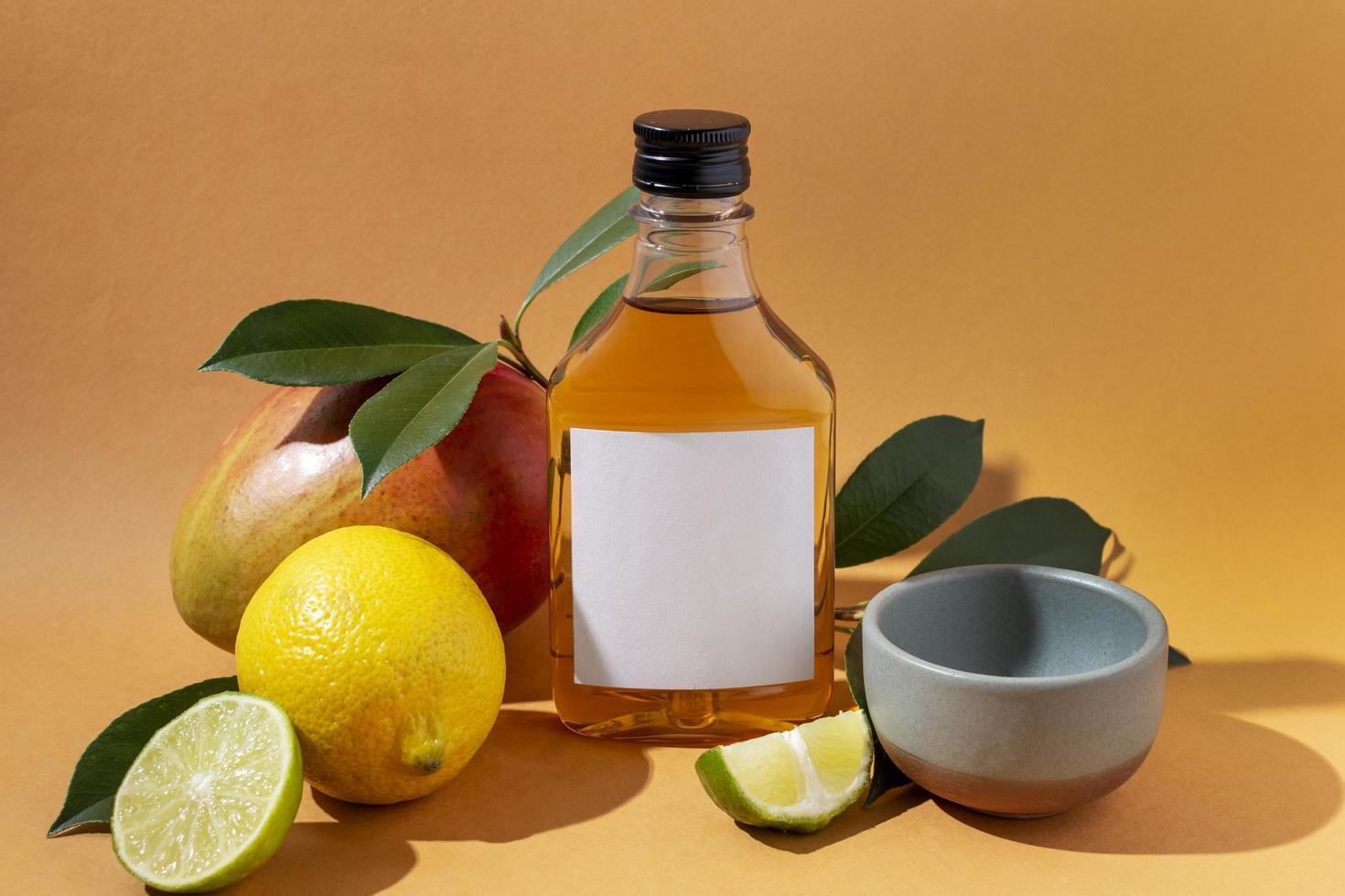 Tequila or mezcal bottle mockup photo